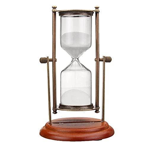 FHSMRING 15 Minutos Rolating Reloj de Arena Sandglass Sand Reloj Temporizador Tabla Decoración del hogar Decoración de Escritorio Adorno temporizadores (Color : China)