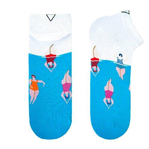 CUP OF SOX Lustige Sneaker Socken in der Pappbecher - Bunte Füßlinge für Damen und Herren, Nymphen, 37-40