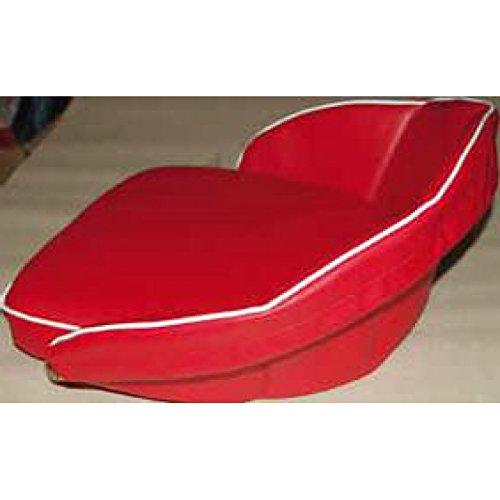 Schleppersitzkissen rot mit Überwurf 45 x 40 cm Lehne 20 cm