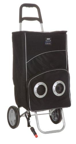 Artra Picknick koeltas trolley Ezetil elektrische boodschappentas, boodschappenmand op wieltjes, winkelwagen, zwart