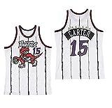 NBA Toronto Raptors 15# Vince Carter Vintage All-Star Jersey, Short de Basket-Ball pour Hommes et Jersey T-Unisexe Shirt (Taille: S, M, L, XL, XXL) (B,S)