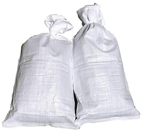 20 Hochwasser Sandsäcke PP Sandsack Hochwassersack weiß Hochwasserschutz Sandsack Für Hochwasser Zum Befüllen Fa.ars