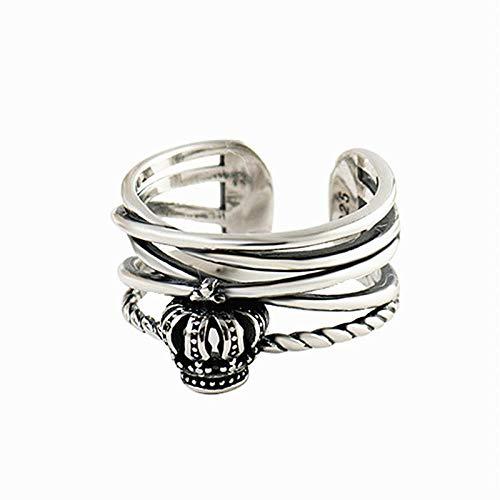 Ring Öffnen Bijoux Bohemian Vintage 925 Sterling Silber Big Crown Ringe Für Frauen Verlobungsringe Mädchen Party Geschenke Anillos