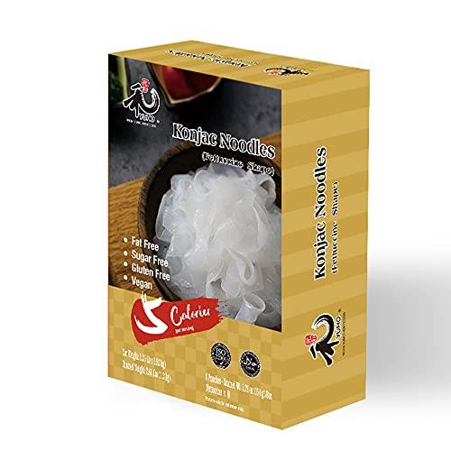 YUHO Shirataki Konjac Fettuccine, 8 Pack Inside, Vegan, Low Calorie Food,...