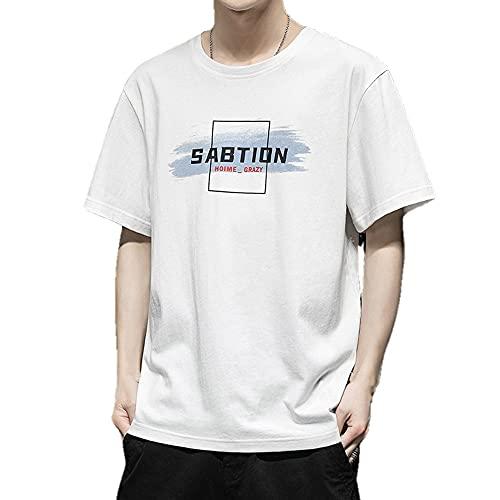 N\P - Maglietta da uomo a maniche corte, coreana, stile casual, Cachi 1., L