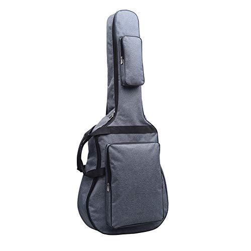 ギターバッグ 42インチ43インチのギターに適用(ジャンボタイプ対応) 12mmスポンジ入りJumbo Guitar Gig Bag ギターケース リュック型 手提げ (グレー)