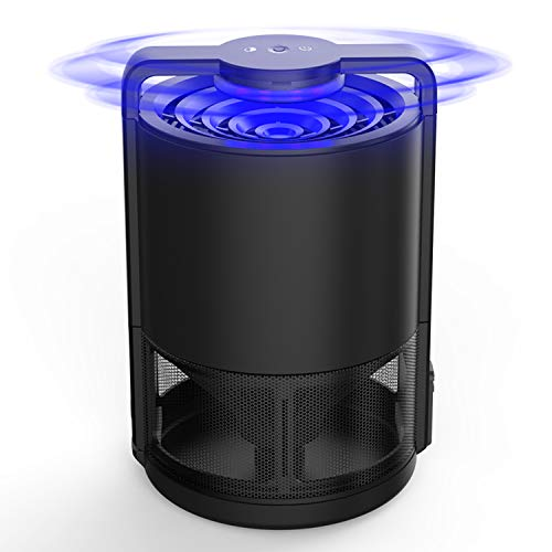 DOUHE Mosquito Killer Insect Trap Intelligent Control Fruit Fly Trap, Indoor Insect Killer, Sticky Glue Trap with UV Light, USB Powered, Built-in Fan