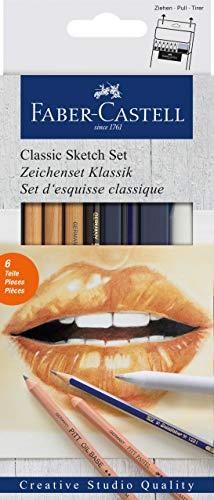 Faber-Castell 114004 Matite Grafite, 6