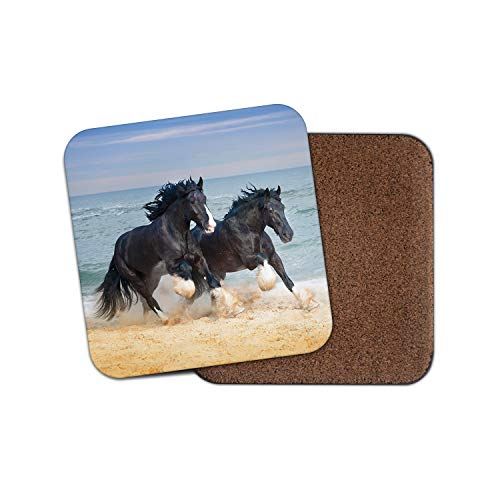 Sottobicchiere Shire Horses – bellissimo Animal Ocean View Cool Ponies Beach Gift #12681