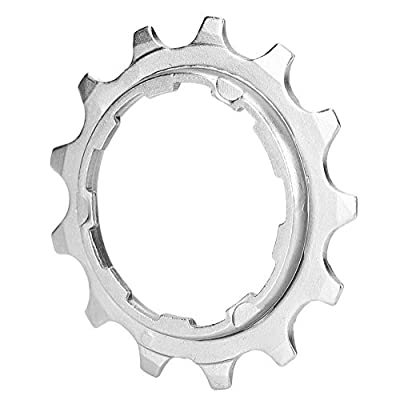 Keenso Bike Freewheel Parts,High Strength Steel Bicycle Cassette Cog Mountain Bike Freewheel Parts for Fixed Gear(8 Speed -13T)
