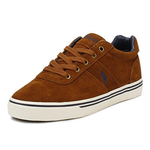 Ralph Lauren Uomo Marrone Hanford Scamosciato Sneaker-UK 6