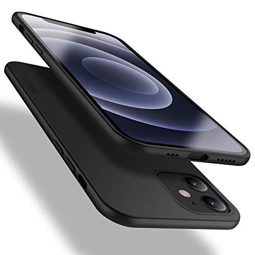 X-level für iPhone 12 Hülle, für iPhone 12 Pro Hülle, [Guardian Serie] Soft Flex TPU Hülle Superdünn Handyhülle Silikon Bumper Cover Schutz Tasche Schutzhülle für iPhone 12/ iPhone 12 Pro - Schwarz
