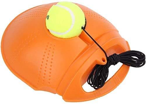 Tennis Trainer palla di rimbalzo per auto tennis, strumento di allenamento fitness palla per la schiena e allenamento auto tennis portatile basetta per principianti, Arancione