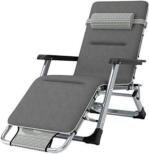 Office Life Terrasse extérieure réglable pour chaises longues Transat avec siège de jardin sans gravité pliable Convient pour véranda Porche Jardin Pelouse Camping Support de chaise portable 200 kg