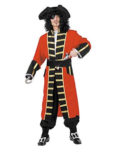 DISBACANAL Disfraces Capitán Garfio para Adulto - -, XXS