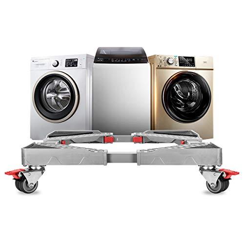 Grandekor Waschmaschinen Untergestell,Multifunktionaler verstellbar Podest mit 4x2 Räder(40-67)für Waschmaschine Trockner & Kühlschrank,verstellbar Waschmaschine Sockel Untergestell