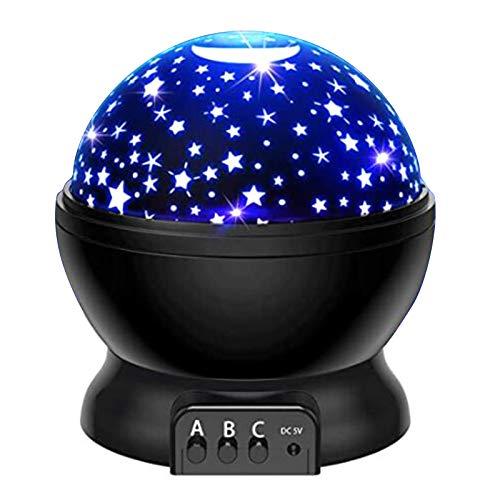 ATATMOUNT Proiettore di Cielo Stellato Rotante Luce Notturna a LED Planetario Camera da Letto per Bambini Lampada a Stella Giocattolo Regalo per Bambini