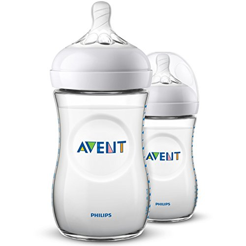 Philips Avent SCF033/27 Lot de 2 Biberon Natural 260 ml 0-6 Mois