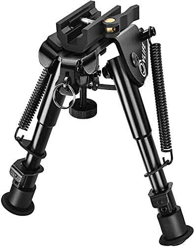 CVLIFE 6-9 Inches Rifle Bipod Picatinny Bipod with Ultralock QD Mount Quick Release Bipod
