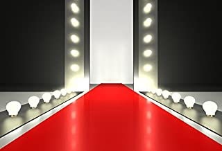 Baocicco Red Carpet Shining Spotlight Backdrop 7x5ft Photography Background Fashion Show Catwalk Show T Stage Illuminated Event Activity Business Party Entrance Modern Ceremony