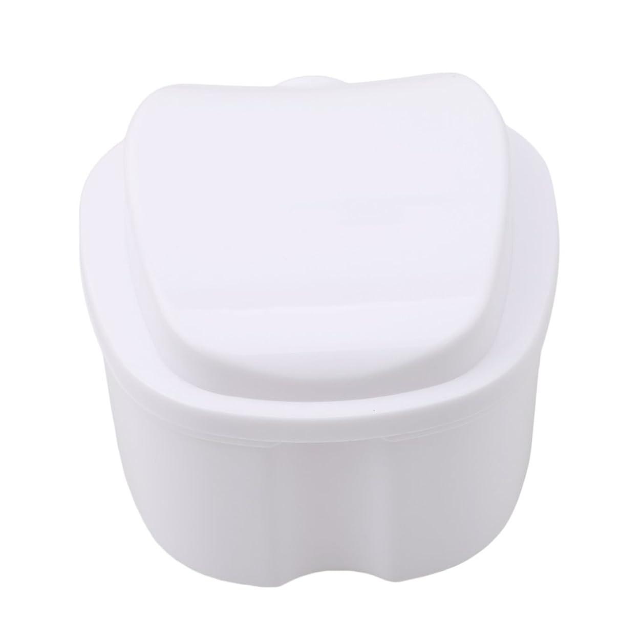然とした機転動物Honel 収納ボックス 義歯収納用 リテーナーケース りんご柄 ホワイト