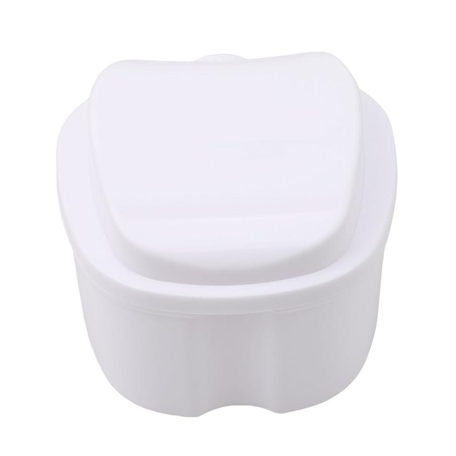 剣物理学者不健全Honel 収納ボックス 義歯収納用 リテーナーケース りんご柄 ホワイト