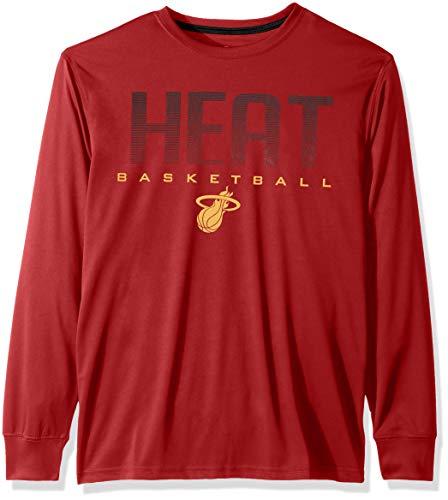 Ultra Game NBA Miami Heat Mens Active Long Sleeve Tee Shirt, Team Color, Large