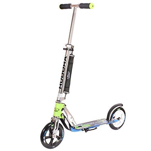 HUDORA Big Wheel 205 grün/blau 88x79cm Scooter Roller Tretroller Cityroller Roller Tretroller Cityroller Kickscooter Kickroller