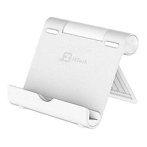 JETech Supporto Telefono e Tablet, Regolabile Porta Stand Dock, Multi-Angolo, Portatile, Alluminio
