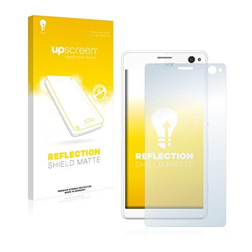 upscreen Entspiegelungs-Schutzfolie kompatibel mit Sony Xperia C4 – Anti-Reflex Bildschirmschutz-Folie Matt