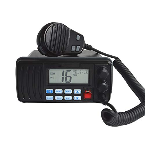 HYS 25 Watt Festmontiertes Marine Vhf Radio, wasserdicht IPX7 mit Triple Watch, Dsc, Notfall/Noaa Wetterwarnung, alle Usa/International/Kanadischen Marine Kanäle.Vibration Draining Funktion