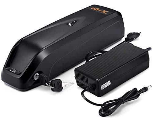 X-go Ebike Batería 48V/36V Li-Ion Batería para Bicicleta Eléctrica Scooter Tricyle Eléctrico con Cargador, Compatible con Motor 250W 350W 500W 700W 1000W (Hailong 36V 10Ah)