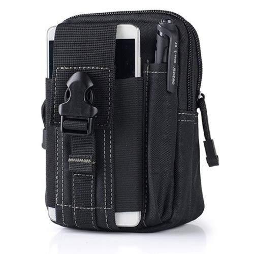 SPACEFLIGHT Hip Bag taktische Hüfttasche, schwarze Gürteltasche multifunktional, Sport und Outdoor Bauchtasche, wasserdicht für Reisen/Wandern, 12 x 6 x 17.5 cm