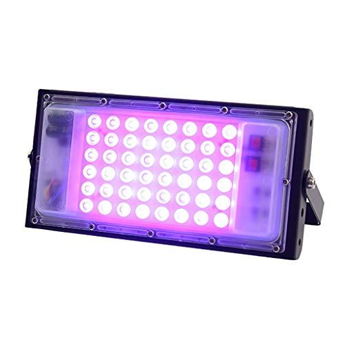 YFH 50W LED UVC Entkeimungslampe Flutlicht 110V 220V Scheinwerfer Flutlicht im Freien Garten-Wandleuchte Straße führt Reflektor-Cast Licht (Emitting Color : UVC lamp Purple, Wattage : 50W 220V)