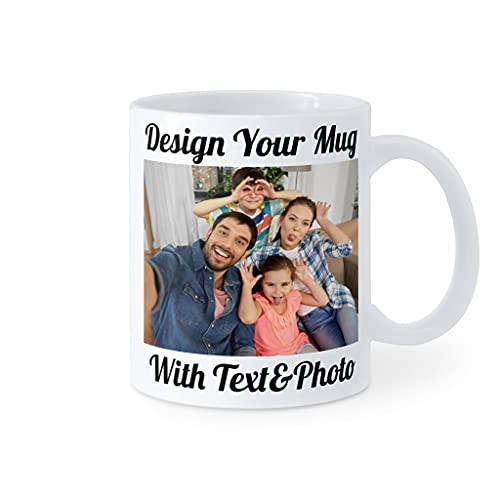 Custom Mugs with Picture Text Personalized Coffee Mug with Coaster Gifts For Mom Dad Lover Family 11 & 15 oz Ceramic 2 Sided Design Fall Autumn Gift For Best Friends, Father, Mother, Women, Men