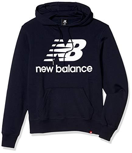 New Balance Herren Essentials Kapuzenpullover mit gestapeltem Logo L Eclipse