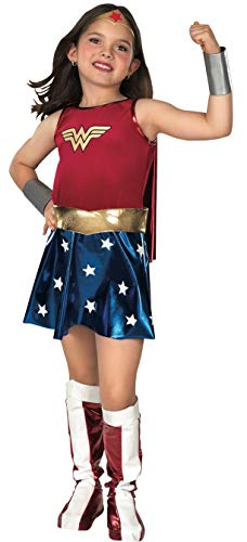 Rubies Wonder Woman Deluxe - Niños Disfraz - Medium - 132cm