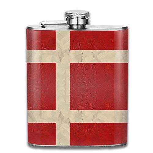 Flask Deens Vlag RVS Kleine Hip Flask Mens Lekvrij Vlagon Outdoor Draagbare Flask voor Alcohol Whiskey Rum en Vodka