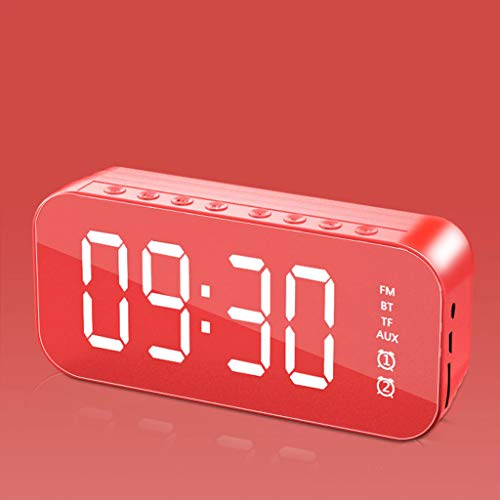 GHAMZ Altavoz Portátil Bluetooth, Volumen Más Alto, Sonido Estéreo Cristalino, Emparejamiento Estéreo Inalámbrico, Manos Libres, Lata para El Hogar, Al Aire Libre, Viajes,Rojo