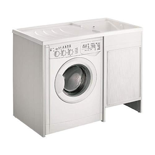 lavado CUBIERTA DE MAQUINA negrari exterior Roc Kit montaje bañera Lavadora DX derecha izquierda SX blanco Móvil lavadora puerta deslizante tambor lavabo Resina Plástico PVC l109p60109x 60H92cm