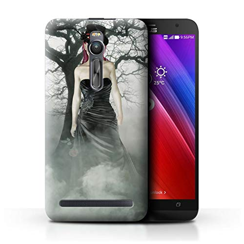Stuff4® Phone Case/Cover/Skin/ASUS-CC/Day of The Dead Festival Collection Asus Zenfone 2 ZE551ML Zwarte jurk vrouw