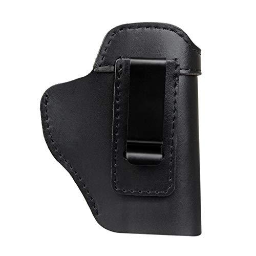 Funda de Pistola, Funda de Cuero Oculta para Pistola IWB para Glock 17 19 22 23 43 Sig Sauer P226 P229 Ruger Beretta 92 M92 (Color : Brown, Size : 127 mm X 64 mm)