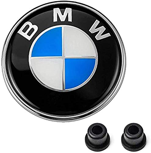 Westion 82mm BMW Emblem Logo Replacement for Hood/Trunk for ALL Models BMW E30 E36 E46 E34 E39 E60 E65 E38 X3 X5 X6 3 4 5 6 7 8 (front/82mm)