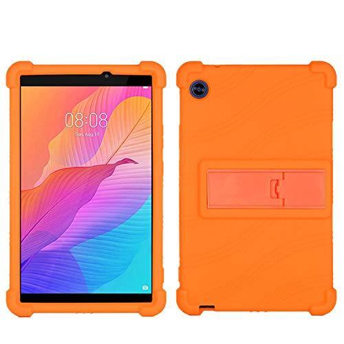 QYiD Funda para VANKYO MatrixPad S20 10 Pulgadas Tablet, Funda de Silicona Suave a Prueba de Golpes Protectora Cubrir Funda para 10 Pulgadas MatrixPad S20, Naranja