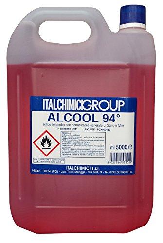 ALCOOL DENATURATO 94° CERTIFICATO LT. 5 4 PZ