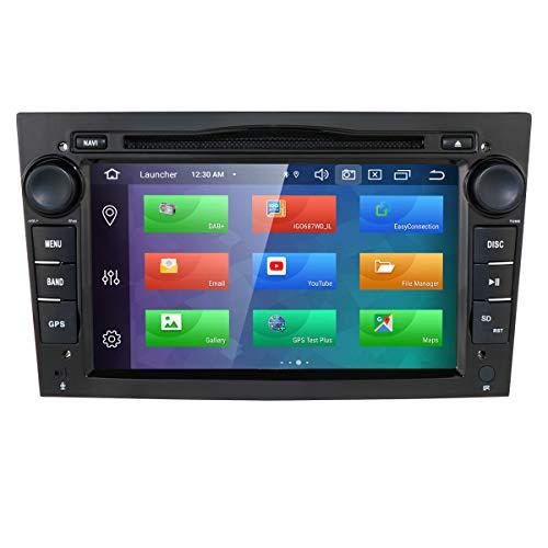Dubbele geluidsauto stereo Android 9.0 7 inch touchscreen in dash GPS-navigatie ondersteuning WiFi Bluetooth spiegelverbinding SWC OBD voor Opel Antara Vectra Crosa Vivaro Zafira Meriva(zwart)