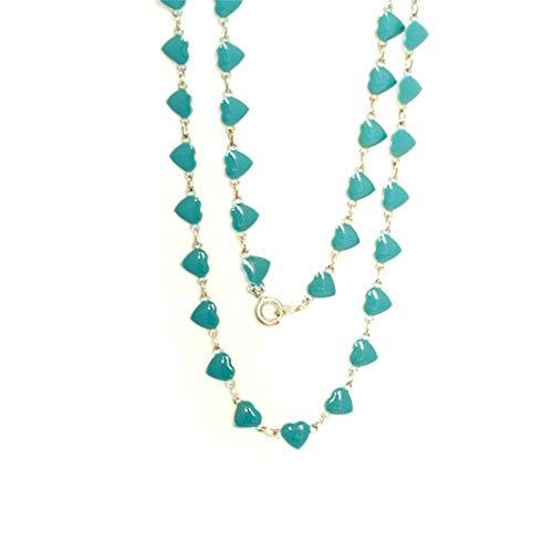 WL Fashion Halskette für Kinder mit Herzen-Motiv in türkis 030-00356