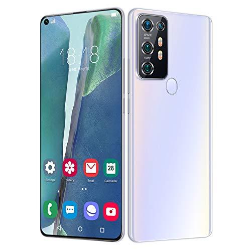 Smartphone libre 4 G, Note30S, 10 núcleos, pantalla FHD 7,2 pulgadas, 4 + 64 GB/4 + 128 GB, 24 MP + 48 MP,5800 mAh, Android 10.0, ID de cara / desbloqueo por huella digital, compatible con tarjeta TF
