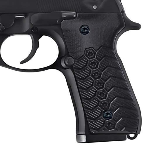 Guuun G10 Grips for Beretta 92Fs Full Size Beretta 96 Pistol Grips Mechanical Texture - Black