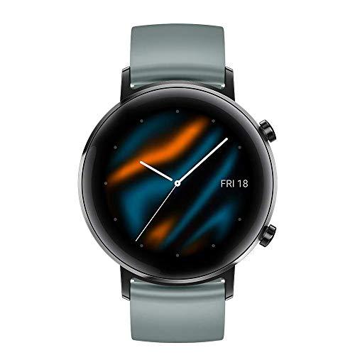 gooplayer per Huawei Orologio GT 2 Astuto della vigilanza di Bluetooth Smartwatch 5.1 14 Giorni di durata della batteria del telefono Chiamata frequenza cardiaca per Android iOS (Lake Cyan 42mm)